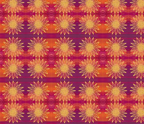 sunflower sunset fabric by tiffi on Spoonflower - custom fabric