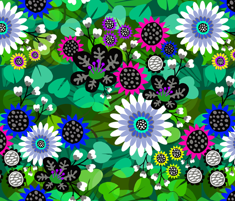 sea_of_flowers fabric by natalie_du on Spoonflower - custom fabric