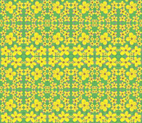 Daisy Delights fabric by rhondadesigns on Spoonflower - custom fabric