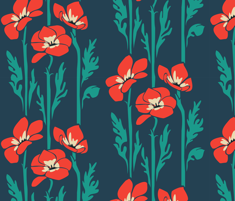 RedAnemones fabric by bonsaimechagirl on Spoonflower - custom fabric