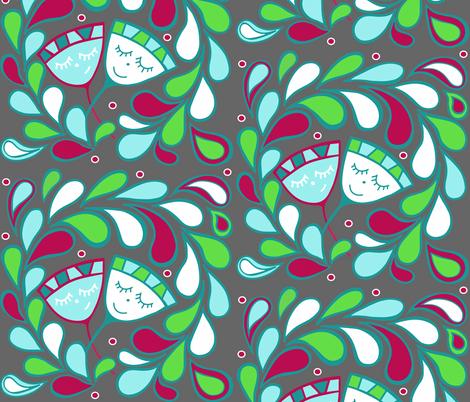 Blooming Buds fabric by sewindigo on Spoonflower - custom fabric