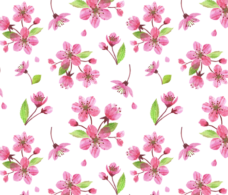 Blossoms Collage fabric by heather_anderson on Spoonflower - custom fabric