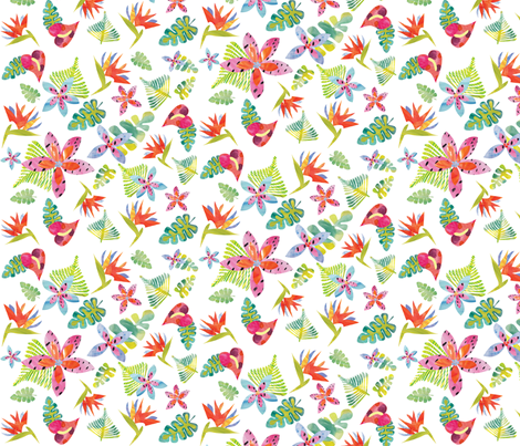 Tropicolors fabric by ivydoodle on Spoonflower - custom fabric