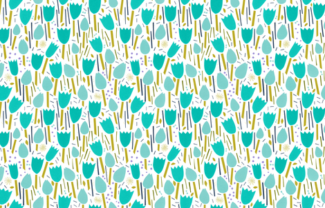 Tulip Garden by Friztin fabric by friztin on Spoonflower - custom fabric