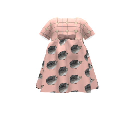Pokey Little Hedgehog -Plaid / Buttons