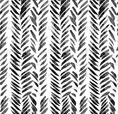 Black and White Brush Stroke Aztec Boho