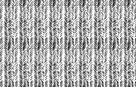 Black and White Brush Stroke Aztec Boho fabric by hudsondesigncompany on Spoonflower - custom fabric