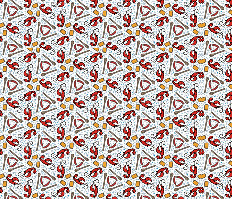 Crawfish Boil fabric by the_wookiee_workshop on Spoonflower - custom fabric