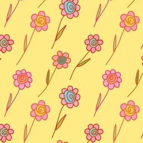 flying flowers - kiss of sunshine