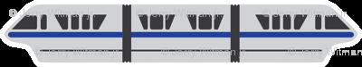 Monorail - Blue
