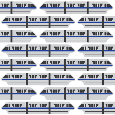Monorail - Blue fabric by the_wookiee_workshop on Spoonflower - custom fabric