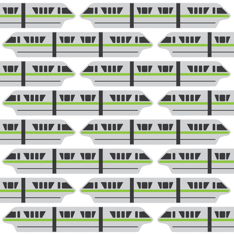 Monorail - Lime fabric by the_wookiee_workshop on Spoonflower - custom fabric
