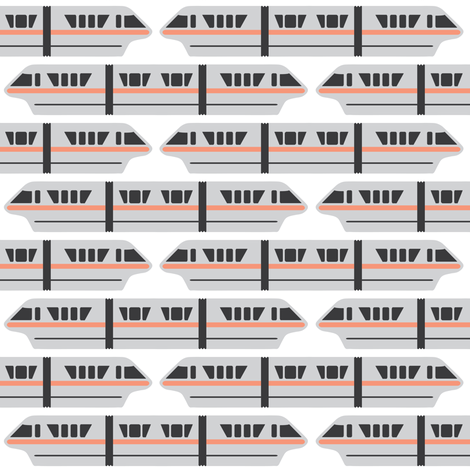 Monorail - Peach fabric by the_wookiee_workshop on Spoonflower - custom fabric