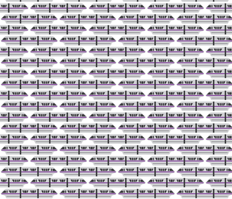 Monorail - Violet fabric by the_wookiee_workshop on Spoonflower - custom fabric