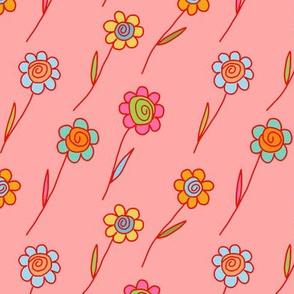 flying flowers - spring fling