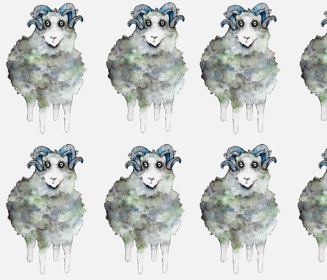 Nordic Sheep fabric by karinafo on Spoonflower - custom fabric