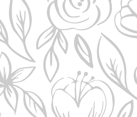 SincerelyHopeDesigns-Floral-1-Wallpaper-Spoonflower-01 fabric by sincerelyhopedesigns on Spoonflower - custom fabric