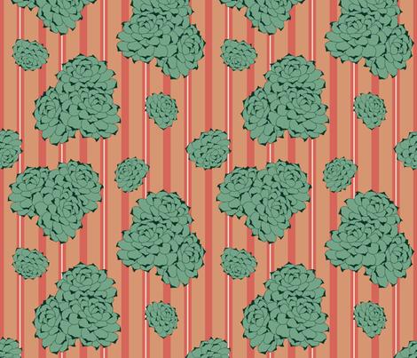 Desert Roses on Terracotta fabric by jabiroo on Spoonflower - custom fabric
