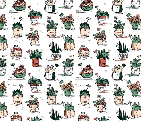 SUCCULENTS fabric by janemonteith on Spoonflower - custom fabric