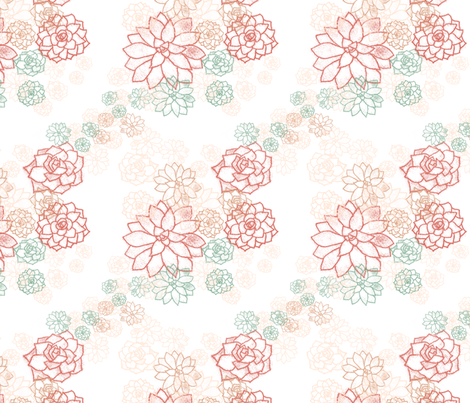 Succulents fabric by honey_gherkin on Spoonflower - custom fabric