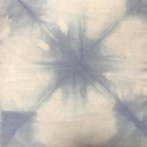 shibori diamond print light blue