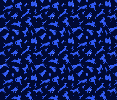 Constellation Dogs fabric by samantha_kate on Spoonflower - custom fabric