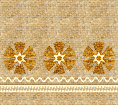 Basketweave Skirt with Flowers - Polynesian Princess Collection