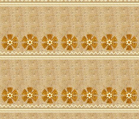 Basketweave Skirt with Flowers - Polynesian Princess Collection fabric by joyfulrose on Spoonflower - custom fabric