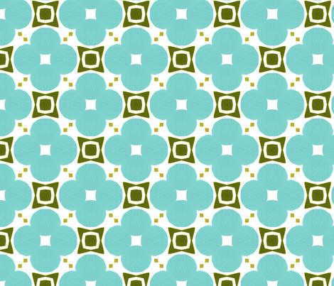 Bold Retro Floral by Friztin fabric by friztin on Spoonflower - custom fabric