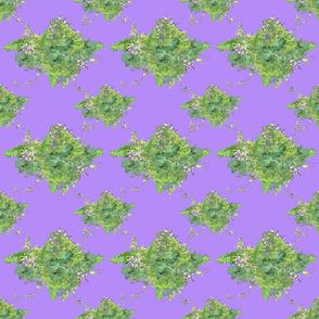 Green-Lavender Vintage Floral Bouquet