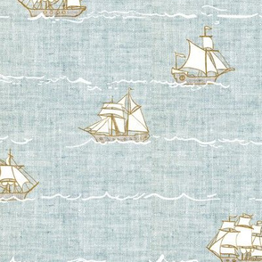Fable Fleet (blue linen)