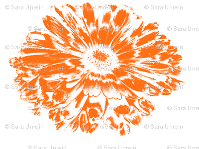 Negative Papercut Orange Daisy