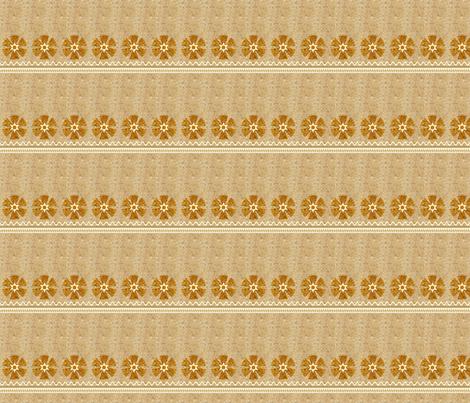 Basketweave Skirt with Flowers Half Size - Polynesian Princess Collection fabric by joyfulrose on Spoonflower - custom fabric