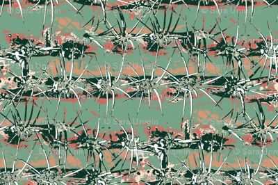 Abstract Cactus in Limited Color Palatte