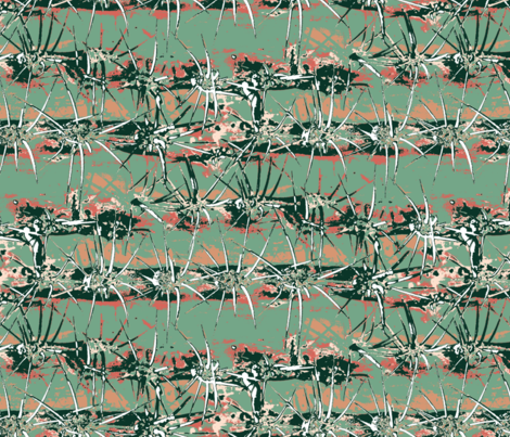 Abstract Cactus in Limited Color Palatte fabric by modernfox on Spoonflower - custom fabric