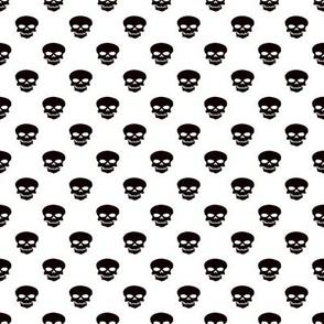 Skulls on White