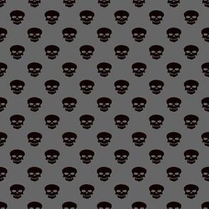 Skulls on Gray