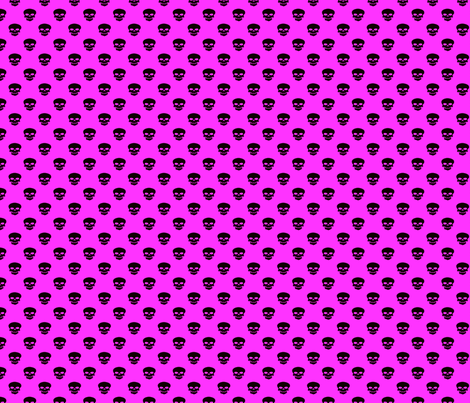Skulls on Hot Pink fabric by jenna_b_designs on Spoonflower - custom fabric