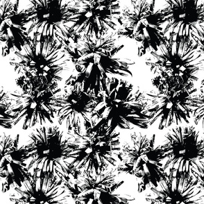 Paper Flowers -Graphic - Black