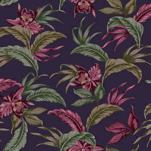 Hawaiian Barkcloth - Purple