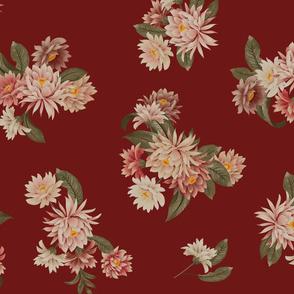 Kimono Floral - Blood Red