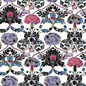 Baroque Floral - White