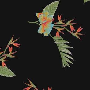 Tropical Dream Floral - Black