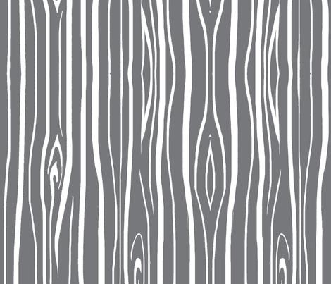 Woodgrain - Cool Grey fabric by sugarpinedesign on Spoonflower - custom fabric