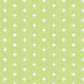 Swiss Cross -  apple  green