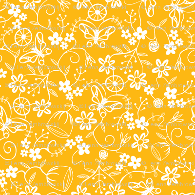Papercut Floral Yellow