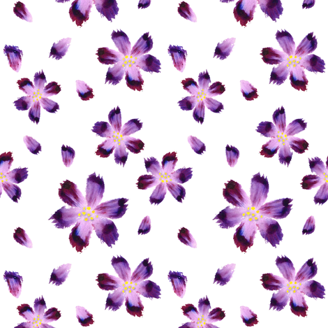 Aquarelle flowers_white fabric by align_design on Spoonflower - custom fabric
