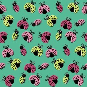 Ladybird Shuffle - Aqua Skies