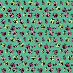 Ladybird Shuffle - Aqua Skies - Small