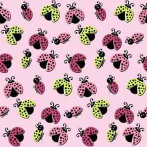 Ladybird Shuffle - Pink Skies